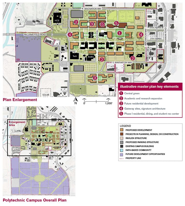 Campus Map Asu.Masterplan Business And Finance