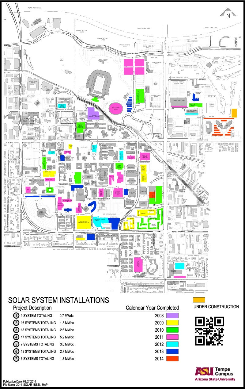 Arizona State University Tempe Campus Map.Tempe Marketplace Map Googel Map Severe Weather Map