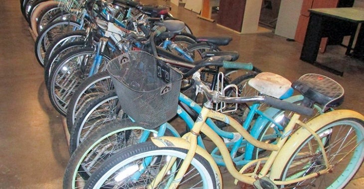 photo of bicycles at surplus office