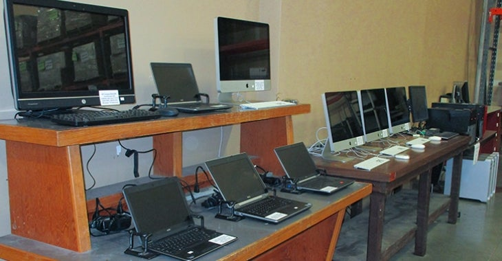 Photo of computers at surplus office