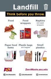 landfill label for classroom bin
